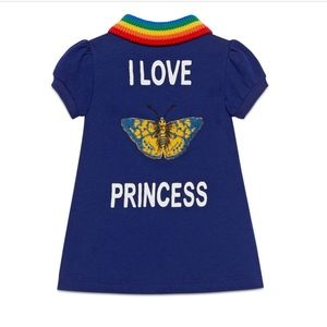 Gucci Kids I Love Princess Polo Dress 🦋